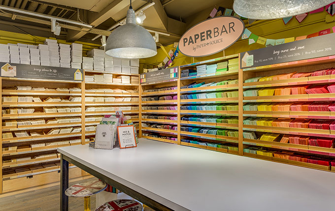 Paper bar at Paper Source at Wheatley Plaza